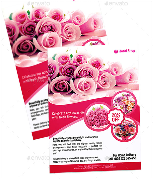Abstract Flower Shop Flyer Template