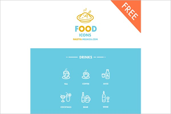 Abstract Food Icon Design
