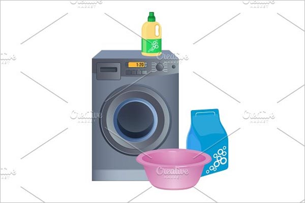 Abstract Laundry Poster Design