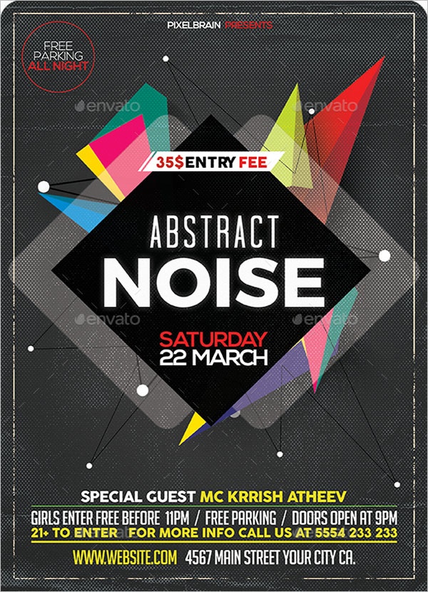 Abstract Nightclub Party Flyer Template