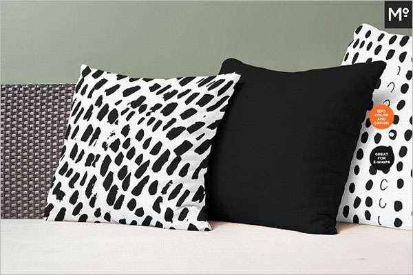 Abstract Pillow Cover Mock-up