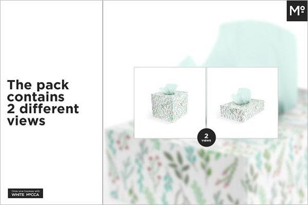 Abstract Tissue Box Mockup