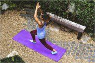Abstract Yoga Mat Mockup Template