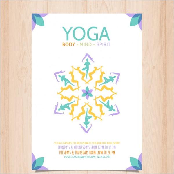 Abstract Yoga Poster Design