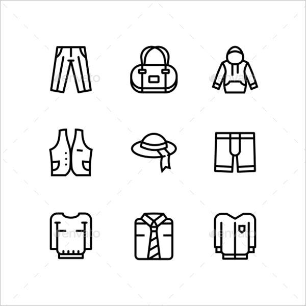 Accessories Icon Design Set