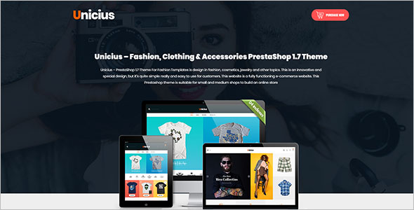 Accessories PrestaShop 1.7 Theme
