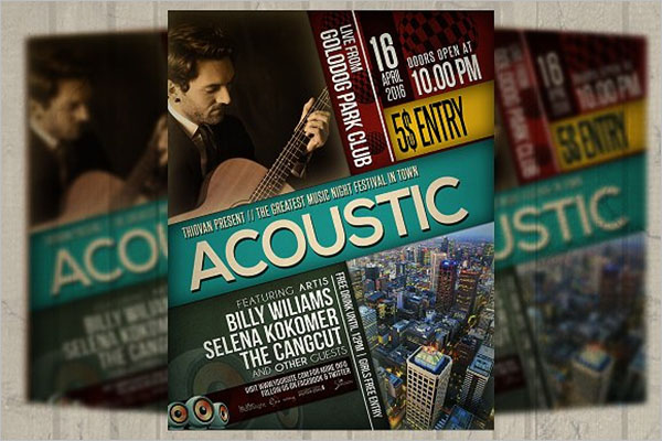 Acoustic Music Poster Template