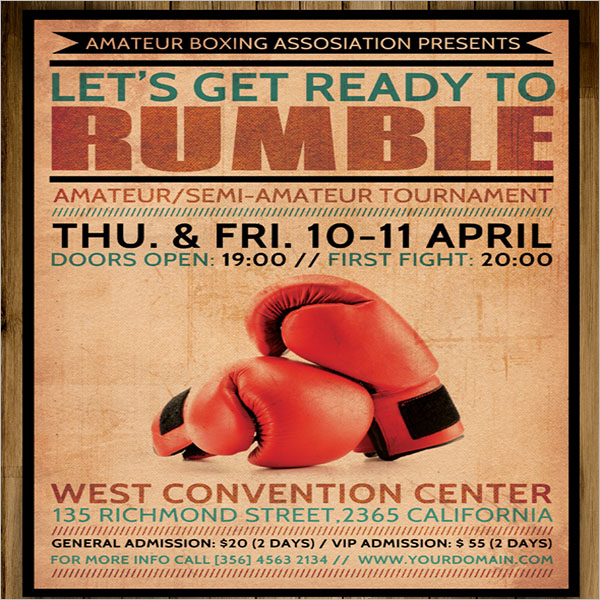 Advertising Boxing Flyer Designs
