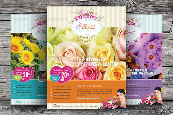 Alternative Flower Shop Flyer Template