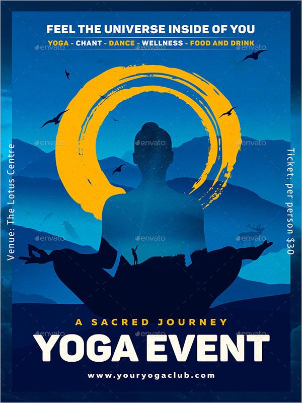 Amazing Yoga Poster Design