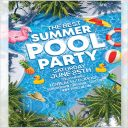 Apartement Pool Party Flyer Template