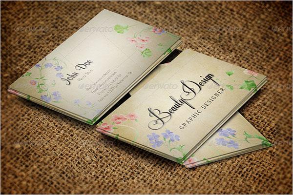Artistic Floral Business Card Design