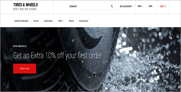 Auto Parts OpenCart Template