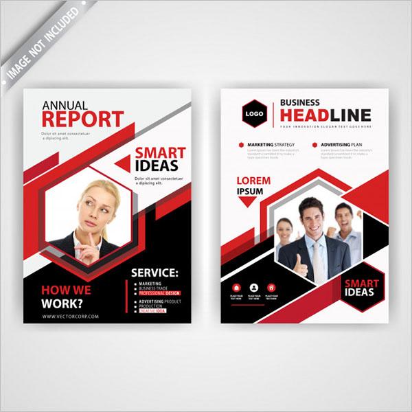 Back And Font Brochure Design