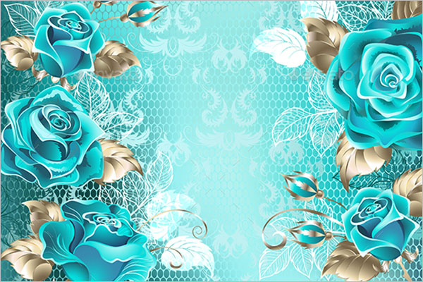 Background with Turquoise Roses