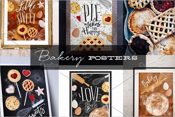 Bakery Advertising Poster Template