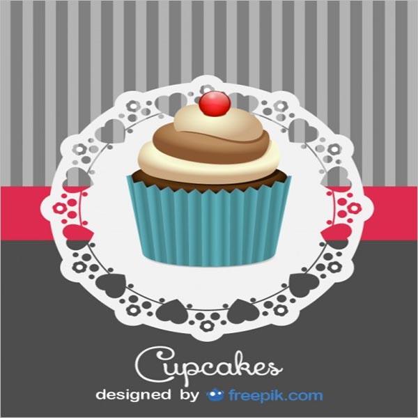 Bakery Cupcake Poster Design