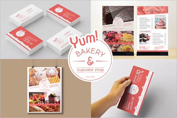 Bakery & Cupcake Shop Bakery Poster Design