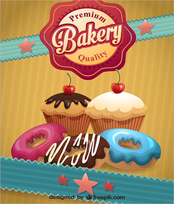 Bakery Poster PSD Free