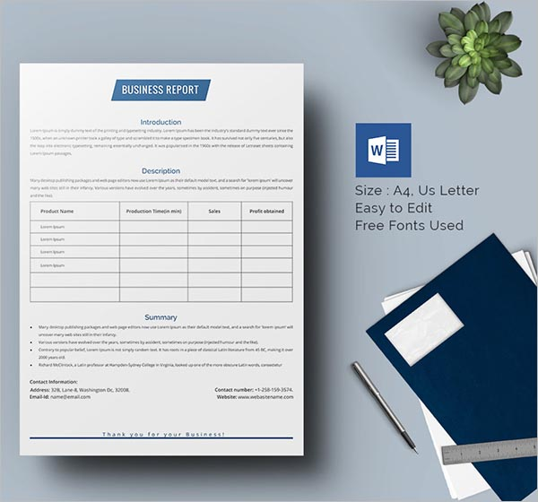 Bankers Business Report Template