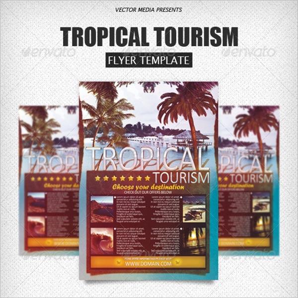 Beach Tourism Flyer Design