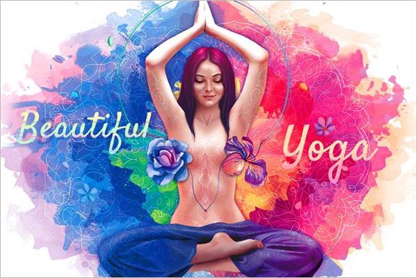 Beautiful Meditation Poster Design