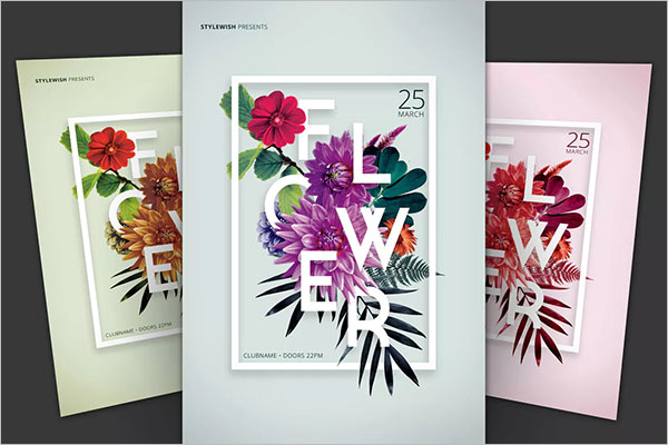 Best Flower Flyer Design