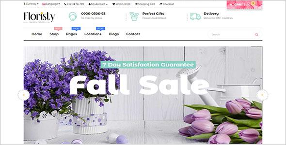 Best Flowershop Opencart Theme