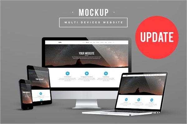 Best Multi Devices Website Mockup