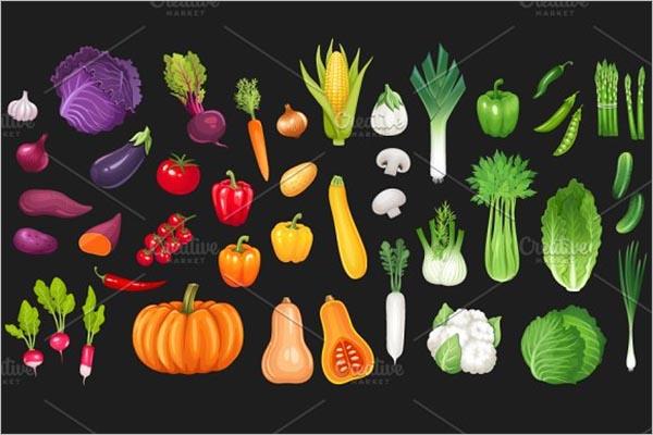 Best Vegetable Icon Design