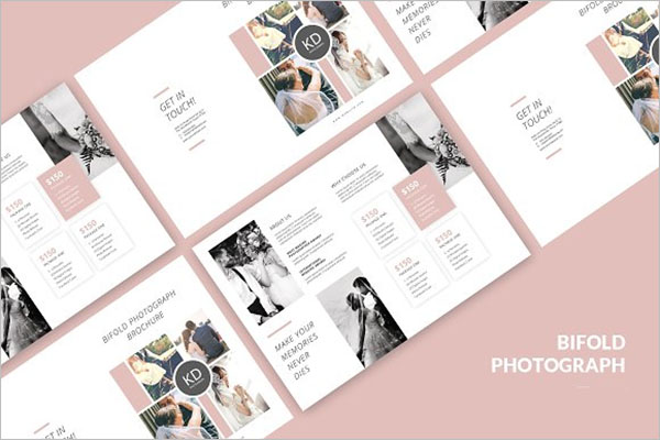 Bi-fold Pricing Photograph Brochure