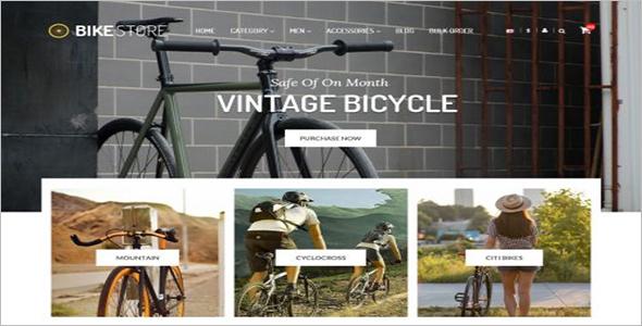 Bike Store OpenCart Theme