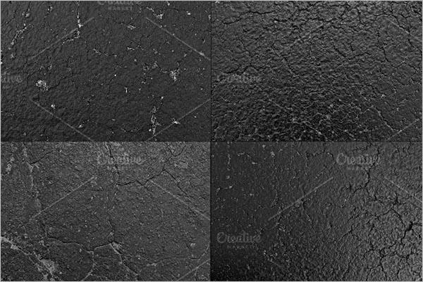 Black Asphalt Road Texture