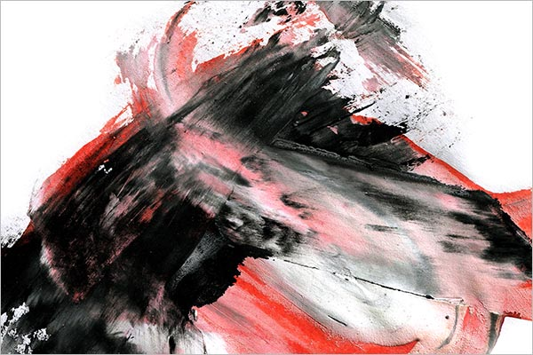 Black & Red Marble Style Ink Background