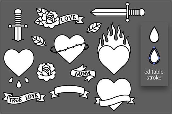 Black Tattoo Icon Illustration