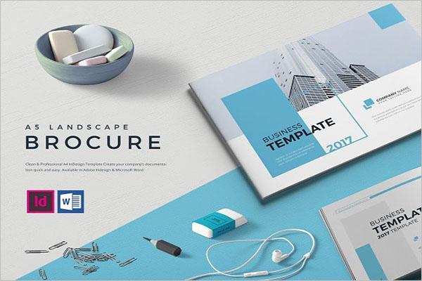 Blue Landscape Brochure Design