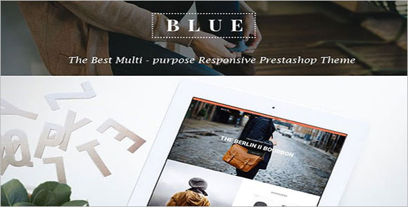Blue Responsive Prestashop Theme