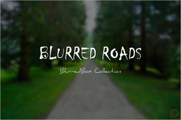 Blurred Road Texture