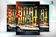Boat Party Flyer Design