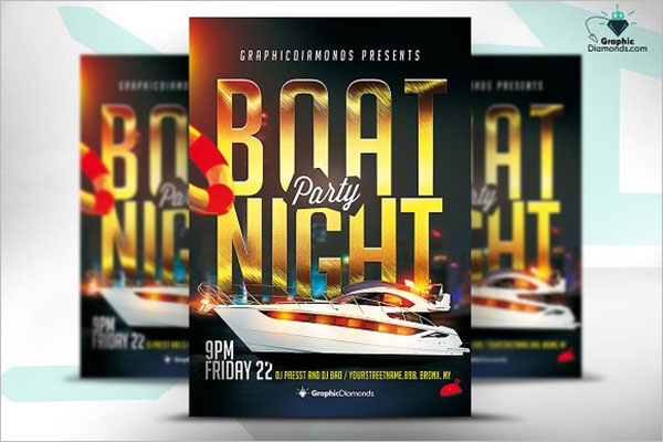 Boat Party Flyer Design