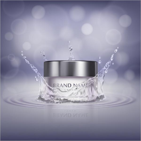 Bottle Of Cosmetic Cream Free Vector