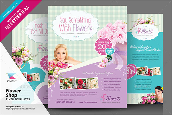 Bouquet Flower Flyer Template