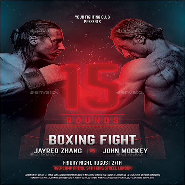 Boxing Championship Flyer Template