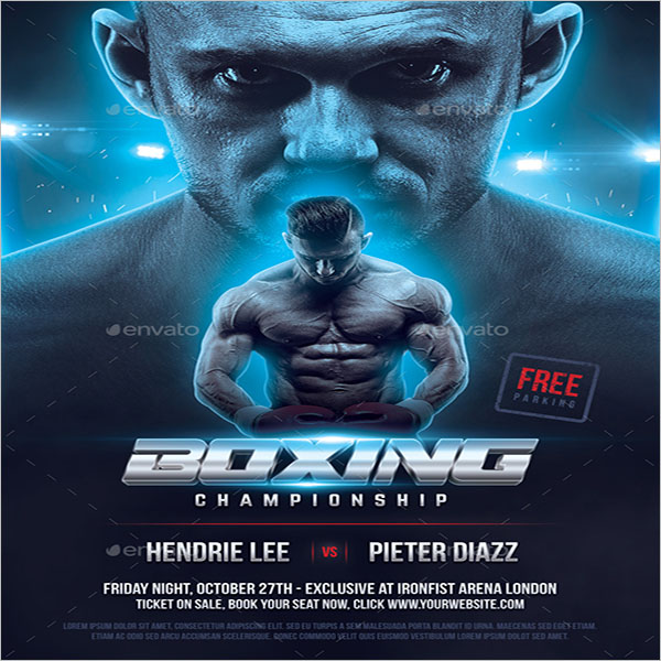 Boxing Championship Flyer