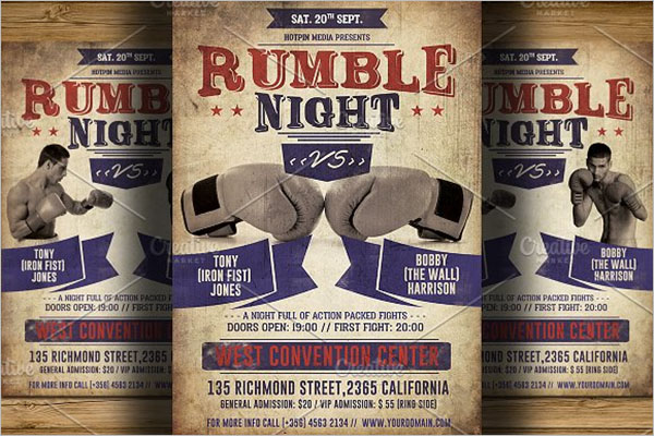Boxing Flyer Designs Example