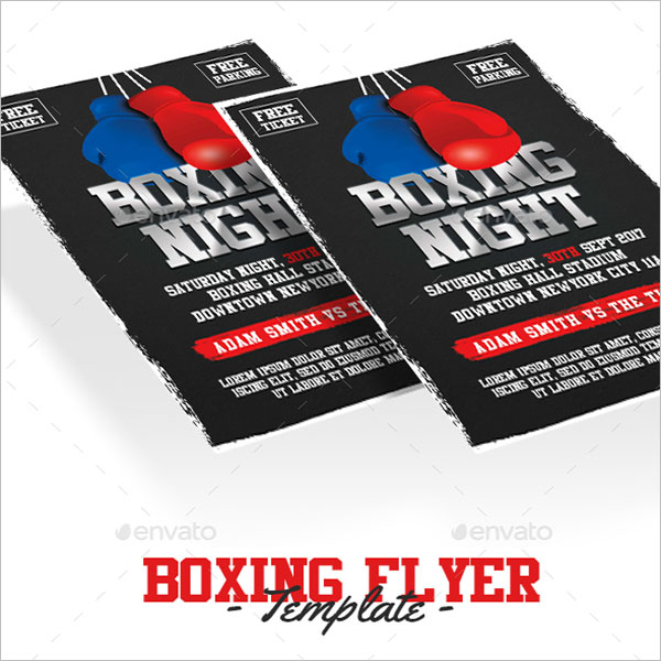 Boxing Flyer Template in Word