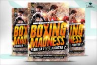 Boxing Madness Flyer Design