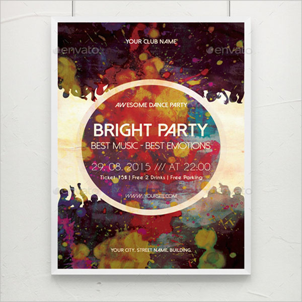 Bright Party Music Poster Template
