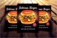 Burger Flyer Design Template
