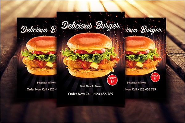 Burger Flyer Design Template